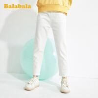 【3件5折价:80】巴拉巴拉女童牛仔裤儿童裤子春装中大童童装弹力百搭时尚