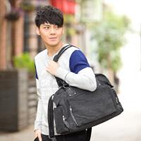 吉野新款男包包帆布包韩版男士休闲包包手提包单肩包斜挎包复古大包包短途旅行包1061