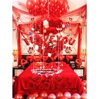 婚房装饰浪漫创意婚房布置新房卧室结婚装饰拉花婚庆用品婚礼布置