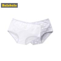 巴拉巴拉女童内裤女底裤少女裤头儿童短裤内三角裤两条装透气弹力