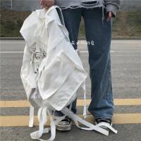 日韩ins超大容量户外多功能双肩包男女学生bf潮牌工装风运动背包