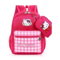 小学生书包女学前班大班书包减负韩版时尚可爱新款kit猫女童书包
