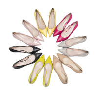 莱尔斯丹 新款法式浅口高跟鞋婚鞋奶奶鞋细跟职业上班皮鞋单鞋53201