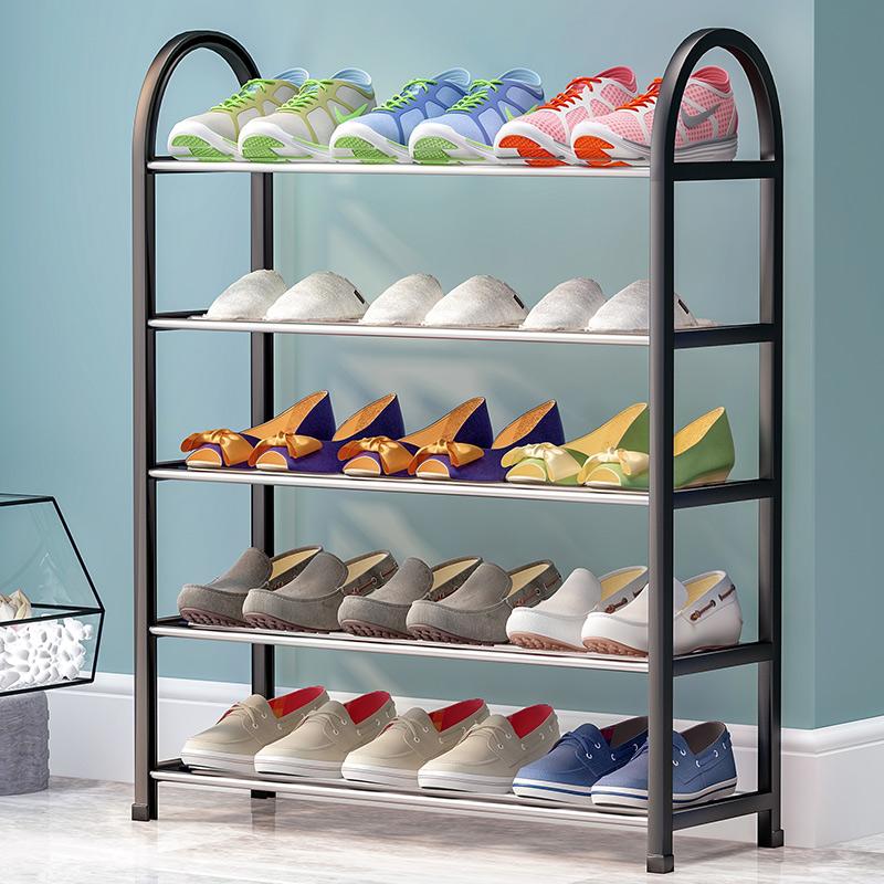 蜗家简易鞋架多层大容量门口宿舍鞋架防锈圆管K575