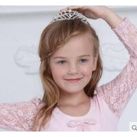 高弹舒适精致闪亮水钻公主王冠女童心形发箍气质百搭 韩版儿童表演出发头饰品