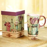 【当当自营】Evergreen爱屋格林创意马克杯大容量水杯子陶瓷杯礼盒装咖啡杯 配长勺