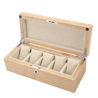 红樱桃木制手表盒子手串链展示收藏收纳盒箱五只装