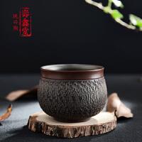 钦州坭兴陶全手工跳刀工艺功夫普洱茶杯茶壶主人杯子