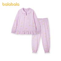 【3件4.5折:90】巴拉巴拉女童家居服套装儿童睡衣中大童小童女孩卡通印花萌趣甜美
