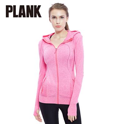 比瘦 PLANK2016新款户外运动外套 连帽长袖女外套段染拉链型运动上衣 PK012比瘦-专注于健康塑身14年