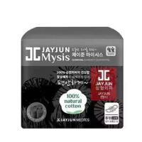 韩国JAYJUN水光竹炭姨妈巾卫生巾 18片日用 黑色