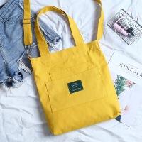 帆布包女单肩简约百搭斜挎包学生文艺小清新手提包环保购物袋