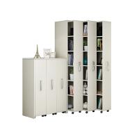 隐藏可移动书柜隐形推拉书柜抽屉式防尘书架储物收纳带轮创意书橱 0.6米以下宽