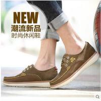 Afs Jeep/战地吉普男鞋 韩版真皮磨砂皮时尚板鞋休闲鞋男士鞋146014959