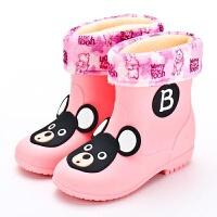 小熊儿童雨鞋防滑男童女童雨靴公主小童小孩宝宝四季幼儿中筒水鞋