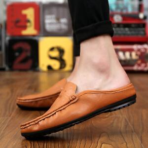 罗兰船长  季透气半拖鞋轻便一脚蹬潮鞋