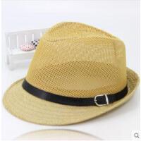 男士帽子爵士帽户外遮阳帽网帽休闲小礼帽老年人逛街凉帽中老年