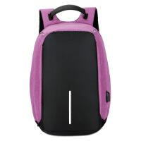 新款商务休闲防盗背包学生旅行安全USB充电背包 14寸