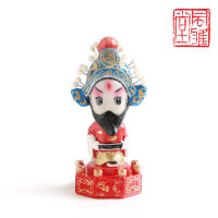 送外国人的中国特色礼物京剧人物国粹脸谱摆件 中国特色礼品送老外出国小礼物 北京纪念品