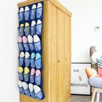 24格鞋子收纳袋门后收纳挂袋挂式置物袋壁挂墙上拖鞋储物袋