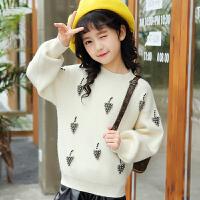女童毛衣套头2017新款中大童秋季韩版儿童装休闲加厚针织打底衫