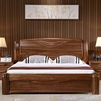 全实木床乌金木厚重款双人床 新中式原木高箱储物床1.8米卧室家具 乌金木床(不含床头柜) 1800mm*2000mm