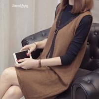 春装2018新款女韩版港味时髦套装针织衫两件套女士毛衣裙打底衫潮