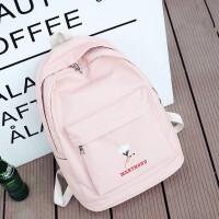 双肩包女学院风植物刺绣日韩版高中大学生书包文艺休闲旅行背包