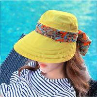 可折叠女士帽春夏天沙滩帽鸭舌帽遮脸骑车遮阳帽 均码(拉链多功能)