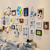 相框/照片墙 照片墙装饰创意个性简约现代客厅背景墙照片墙挂墙免打孔网红照片墙D 20L黑白胡原