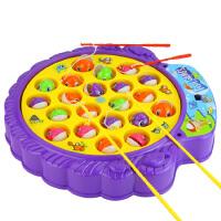 大盘转动音乐钓鱼玩具 含四根钓鱼竿 AF01335