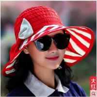 女遮阳帽优雅太阳帽防晒韩版大沿沙滩帽防紫外线户外凉帽