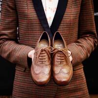 【香港现货】Clarks/其乐女鞋2017秋冬新款雕花布洛克牛津单鞋Hamble Oak专柜正品直邮