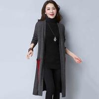 针织衫 女士半高领单排扣中长款针织衫2020年秋季新款韩版时尚女式休闲宽松女装开衫外套