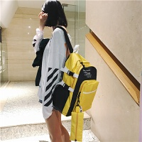 书包超火女 韩版原宿防水高中学生背包电脑包旅行大容量ins双肩包