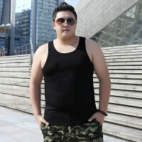 胖人加肥加大码男装潮胖子男士宽松特大号纯棉背心2018夏季