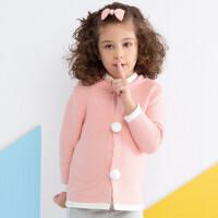 加菲宝贝 童装冬季新款女宝宝加绒外套可爱造型婴幼儿童毛衣GKMA5060