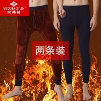 俞兆林2条装加厚加绒男士保暖裤秋裤线裤打底裤冬季棉裤护膝款