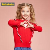 巴拉巴拉童装儿童毛衣女童针织衫2019新款秋装小童宝宝线衣甜美女
