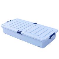 床底收纳箱塑料特大号床下衣服被子整理箱扁平抽屉式衣物储物箱子 超长版(长96.5cm宽46cm高17.5cm)