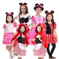 Cosplay六一儿童狐妖小红娘动漫 可爱儿童小红帽 卡通米妮服装