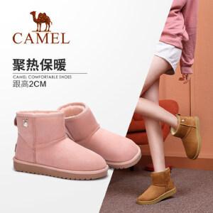Camel/骆驼女鞋 2018冬季新款 平跟简约质感舒适耐磨防滑雪地靴女
