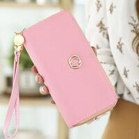 女士零钱包长款拉链大容量手拿包双层软皮手机韩版多卡位