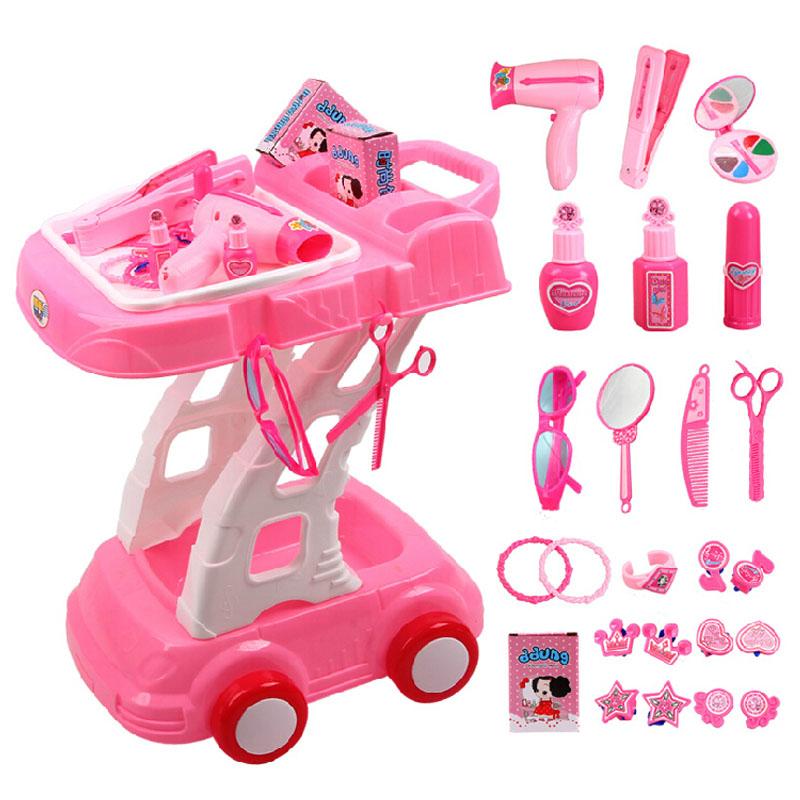 ddung冬己 儿童过家家玩具套装医具 手推车切蛋糕小家电女孩玩具