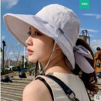 帽子女韩版潮百搭网红同款时尚户外运动新品出游遮阳帽防晒空顶大沿遮脸日系渔夫帽女士