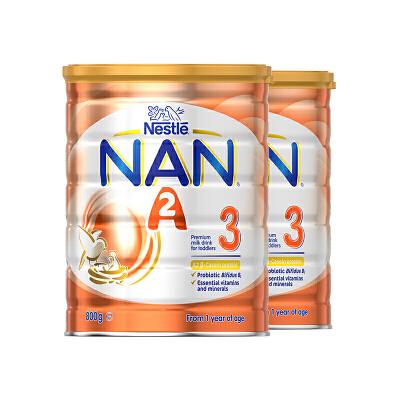 保税区发货   NAN雀巢能恩A2超级蛋白奶粉3段 800g*3罐  包邮包税
