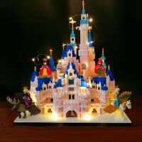 乐高积木女孩系列成年高难度迪士尼城堡男子10岁公主梦拼装立体