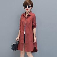 风衣 女士西装领单排扣中长款长袖风衣2020年秋季新款韩版时尚女式休闲女装外套