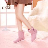 骆驼女靴冬季雪地靴加绒保暖舒适休闲女鞋靴子学生棉鞋短靴女