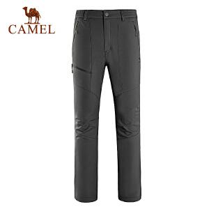 camel骆驼户外男款软壳裤 防风保暖男士软壳长裤
